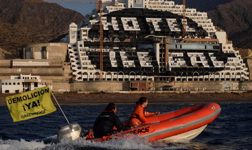 Greenpeace recurre ante el Tribunal Supremo la decisión de no acelerar la demolición del hotel de El Algarrobico – ES