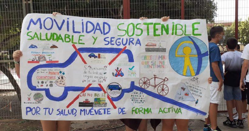 Greenpeace presenta un análisis sobre movilidad en los centros escolares del barrio almeriense de Nueva Andalucía – ES